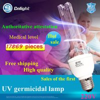 Wholesale Ultraviolet Lamps E27 - Wholesale-Ultraviolet disinfection lamp UV light sterilization germicidal E27 eu plug kill parasite bacteria germs office house hospital