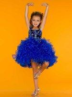 Wholesale Orange Cupcake Skirt - 2015 Short Mini Beads Party Cupcake Mini Girls Pageant Dresses Flowers Skirt