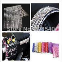 ingrosso ordine cristallo-504 Pz 6mm Bling cristalli personalizzati Strass Adesivi autoadesivi per auto Mobile PC Decorazione AE01304 ordine $ 18no track