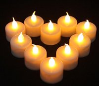 3.5 * 4.5cm Batterie à commande électrique Flicker sans flamme LED Tealight Bougies à thé Light Wedding Birthday Party Décoration de Noël 6 couleurs à choisir