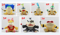 100pcsCartoon Super Mario brinquedos de pelúcia Wendy / Larry / Lemmy / Ludwing / S. Koopa Plush Sanei 8
