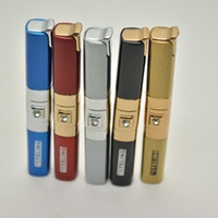 Wholesale Long Butane Lighter - TL-389 diamond long slender Cigarette flame butane lighter torch jet lighter No Gas 5 colors With Display box Smoking Tool Accessories