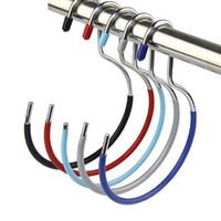 Wholesale Scarf Hanger Rack Holder - Simple Colorful PVC Coated Metal Scarf Hanger, Hanger Rack Holder for Bag