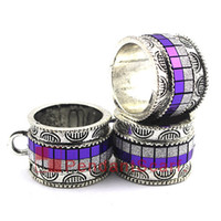 Wholesale fashion jewelry tube pendant resale online - Fashion Design DIY Pendant Scarf Jewelry Metal Alloy Purple Necklace Scarf Slide Bails Tube AC0381A