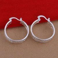 Wholesale Sal Flower - Top quality Foreign jewelry fashion Plated 925 Sterling Silver Earrings Earrings Handmade spot wholesale network earrings for women hot sal