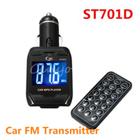 Wholesale Tf A3 - ST701D Rotatable 1.4inch LCD USB for SD TF MMC Wireless Car Auto Kit Stereo Audio Radio MP3 Player FM Transmitter+Remote Control A3*