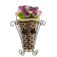 Wholesale Bamboo Flower Basket - Weave Vine Mural Wall Hanging Artificial Flower Plant Basket Flower Arrangment Home Table Decor New