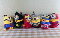 Wholesale Batman Stuff Toys - 23cm hot the avengers 2 plush toy superhero spiderman batman q version stuffed dolls soft toys set figures the avengers free shipping