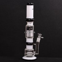 Hookahs Glass Bong deux fonctions Glass Water Smoking Pipes 10 Arme Percolator Bongs Fonction Birdcage Perc Large Recycler plates-formes à huile L175B