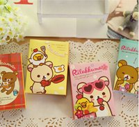 Wholesale Rilakkuma Notepad - Wholesale-Novelty Cute Rilakkuma Folding Memo Pad Sticky Notes Memo Notepad Bookmark Promotional Gift Stationery