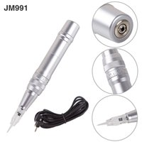 Wholesale Mini Tattoo Machine Power Supply - Professional JM991 Permanent Eyebrow Makeup Machine Pen Rotary Tattoo Machine Gun Power Cord Supply Free Shipping