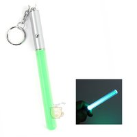 Atacado - Flash Torch Lightsaber Keychain LED Light Glow Magic Wand Stick Pen Chaveiro GF6 shopping