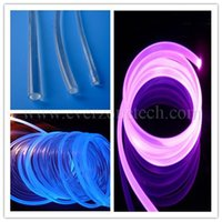 Wholesale Pool Lights Fiber Optic - Wholesale-2mm solid core side glow fiber optic led light cable for swimming pool or underwater decoration