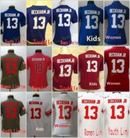 2018 Hot Sale 13 Odell Beckham Jr Blue White Red Elite Game Limited Stitched  Jerseys Women Youth Kids Mix Order ... 502c63555