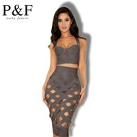 Wholesale Womens Velour Sets - Summer dresses 2 Piece Set Women Bandage Dress 2015 New Fashion Summer Womens Apparel Party Sexy Bodycon Dresses free shipping
