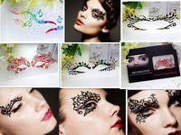 Wholesale Cutting False Eyelashes - False eyelash China art creative paper-cut eye patch eyeliner sticker hollow out eye shadow to stick free shipping DHL 60032