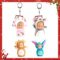 Wholesale Key Chain Cute Dolls - New Cute Baby Sleeping Doll Plush Key Chain Baby Toy