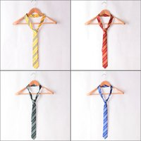 Wholesale Men Striped Neckties - Adult Harry Potter Ties Gryffindor Slytherin Ravenclaw Hufflepuff Cosplay Striped Neckties Unisex Cosplay Gift Collection 4 Colors
