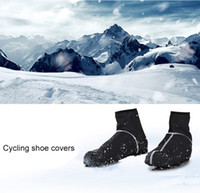 Wholesale Road Shoes Winter - Winter Thermal Cycling Shoe Cover Bike Bicycle Waterproof Windproof Shoes Cover Keep Warmer MTB Road Bikes Shoe Covers