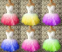 Wholesale Homecoming Puffy Dress - cheap hot Short prom dresses with beaded crystals neckline pleats sweetheart Puffy ruffles colorful cocktail dress homecoming dresses