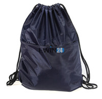 Wholesale Simple Beach Clothing - Sports DrawString Bag For Travel Beach Shoe clothing Headgear Waterproof Lightweight Simple Beautiful 46.5*37.5CM