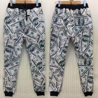 ingrosso jogging pantaloni per ragazzi-uomini liberi di trasporto nuovi uomini / donne / pantaloni da jogging di sport del ragazzo 3D divertente stampa joggers correnti del manicotto della corsa dei pantaloni della tuta del dollaro degli SUA del dollaro degli Stati Uniti