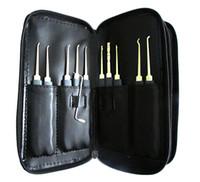 Wholesale Unlocking Tools Auto - Picklocks-20 x High-end locksmith padlock pick tools Unlocking Picklock Tools Set Bag Pouch for Kinds of Locks BK047