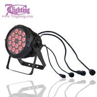 Wholesale 4in1 Led 64 - Wholesale-4units No Noise LED PAR 18x10W RGBW LED Spotlight 4in1 RGBW LED Wash Dmx Stage Lighting 18*10W LED Par 64 Outdoor Lighting