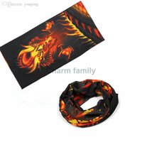 Wholesale Neck Ring Wrist - Wholesale-Unisex Cotton dragon design Paisley Bandana Headwear Head Wrap Scarf Neck Wrist Band Head Tie bandanas