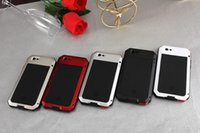 Wholesale Metal Shock Cases - Metal Water Dirt Shock Proof Anti Mobile Phone Protective Shell For iPhone 6 Plus 6s Plus Case Support Fingerprint