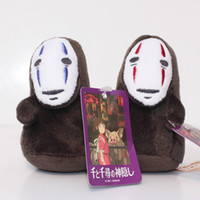 Wholesale Miyazaki Figures - Spirited Away No Face Stuffed Doll Hayao Miyazaki Cartoon Movie Spirited Away Plush Soft Toys 10cm Free Shipping