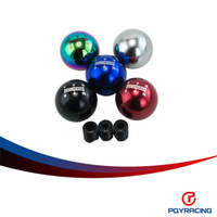 alu black mugen shift knob - PQY STORE Universal MUGEN Gear Shift Knob five Speed Manual Automatic Spherical Shift Knob For Honda Acura TOYOTA NISSAN