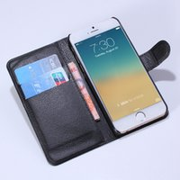 Wholesale Iphone Cover Id - For iphone 6 6s 4.7 Litchi Leather Wallet ID Credit Card Holder Stand Flip Case Cover 9 colors choose