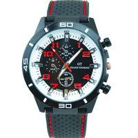 ingrosso gt grandi orologi da turismo-Hot New Men Sport Watch Grand Touring GT Silicone cinturino da polso da polso al quarzo Orologi militari