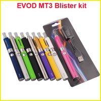 Wholesale Evod Kit Bcc - EVOD BCC MT3 starter blister kit Electronic Cigarette 650 900 1100mAh EVOD battery 2.4ml MT3 atomizer clearomizer