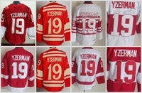 Wholesale Mens Wing - Mens Throwback Detroit Red Wings #19 Steve Yzerman Hockey Jerseys Home Red Vintage Winter Classic Red White Steve Yzerman Jersey C Patch