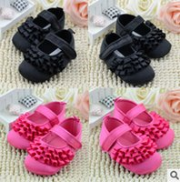Wholesale Infant Shoes Wholesale China - Wholesale Baby Shoes China Peach Black Color First Walker Infant Shoes Non-Slip Prewalker Free Shipping Hot Sale 3Pairs lot