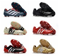 Wholesale Gold Football Boots - 2018 original soccer cleats Predator Precision FG soccer shoes Predator Mania Champagne football boots leather chuteiras de futebol Blue New