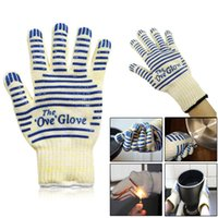 Wholesale Glove Striped Kitchen Gloves Hand Protective The Ove Glove Fit for Both Right and Left Hand F3
