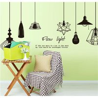 Wholesale Chandelier Wall Stickers - Creative Chandelier Wall Art Decal Stickers Removable Mural PVC Home Decor