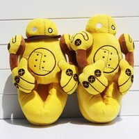 Wholesale cute anime slippers - Blitzcrank Robot slipper LOL League of Legends slipper Cute Plush Cosplay Slippers Soft Dolls For Children