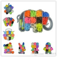 Wholesale Circle Loom Wholesale - Hot sale!DIY so fun!16 different cute shape can be selected Colourful loom band kit for make rubber band bracelet