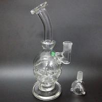 el şişirilmiş cam vazo perc toptan satış-El Üflemeli Cam bong su borusu cam bong Vazo Perc Su Percolator Sigara Boru Piper 14.5mm Ortak için tırnak Tinail