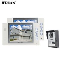 JERUAN 8 zoll video türsprechanlage türklingel intercom system video recoreding foto nehmen 1 Kamera 2 monitore lautsprecher intercom