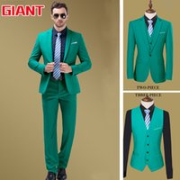 Wholesale-Fashion Designer Hotel Green passt Geschäfts Marke Mens Suit Set (Jacke + Hose) Blazer Men Jacket und Pant GM321
