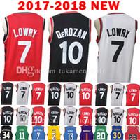 Wholesale Embroidery Football Jerseys - 2017-18 New 7 KyleLowry 10 Demar DeRozan Jersey 2018 Men's KyleLowry 10 Demar DeRozan Jerseys Adult Embroidery