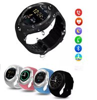 Wholesale Outdoor Watch Faces - Retail No.1 kid Y1 smart watches Latest Round Touch Screen Round Face Smartwatch Phone with SIM Card Slot smart watch for IOS Android