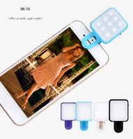 Wholesale Pocket Led Flash Lights - RK10 Selfie Flash Light Led Light Universal smiling face flash light Pocket For iPhone 7 7Plus for Samsung Huawei for IOS Android phone
