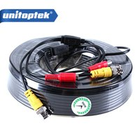 50M Dual Video Power 2.1 x 5.5mm BNC Coaxial CCTV Cable para câmeras de vigilância DVR System