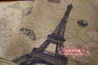 Wholesale Eiffel Tower Wrapping Paper - Eiffel Tower Vintage Gift Wrapping Paper Gift Wrap Scrapbooking Art Kraft Paper Souvenir Packing DIY Material 30 Sheet lot 75*52cm